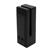 Black face-mount spigot